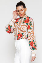 Load image into Gallery viewer, Floral Print Bodysuit Blouse