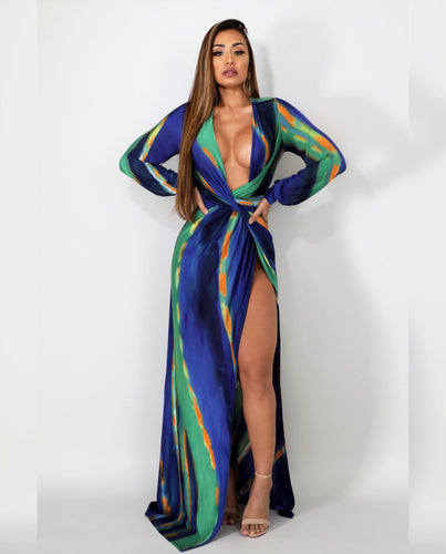 Ego High Slit Maxi Dress