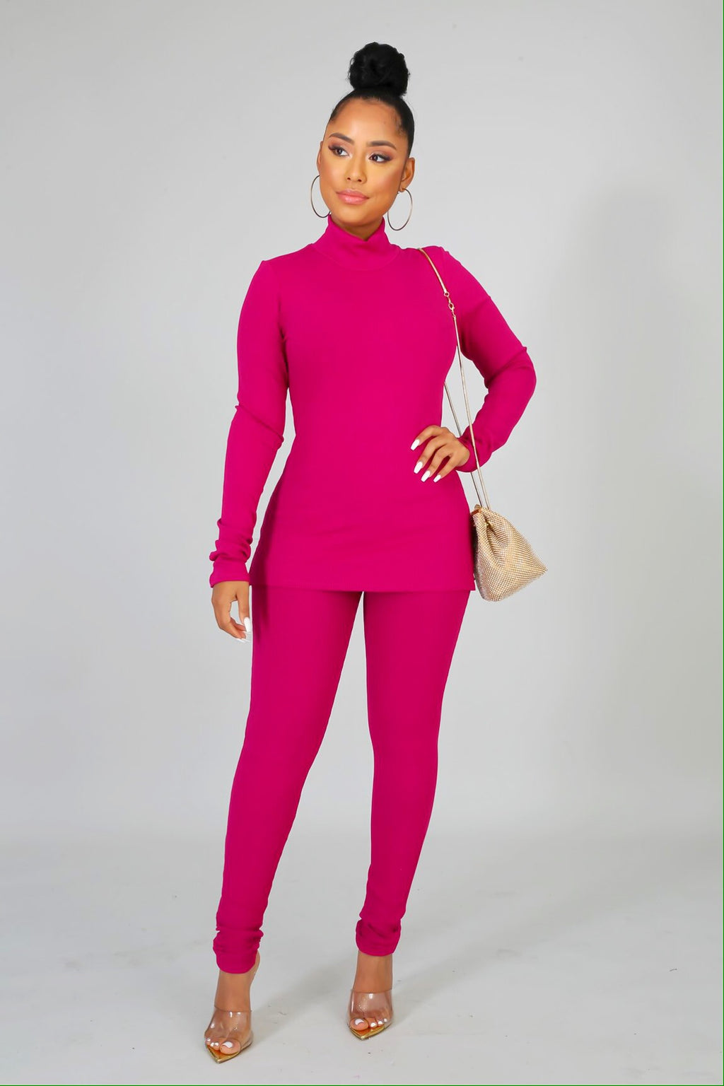turtle neck and leggings set