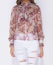 Load image into Gallery viewer, Yours Truly Floral Print Bow Blouse