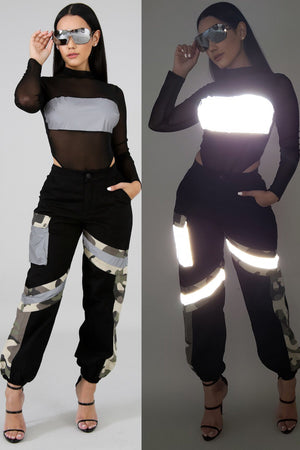 Radar Camo Reflective Cargo Pants