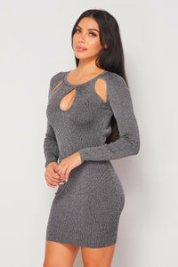 Fall You Black Sweater Dress