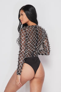 Mad Max Spiked Bodysuit Top