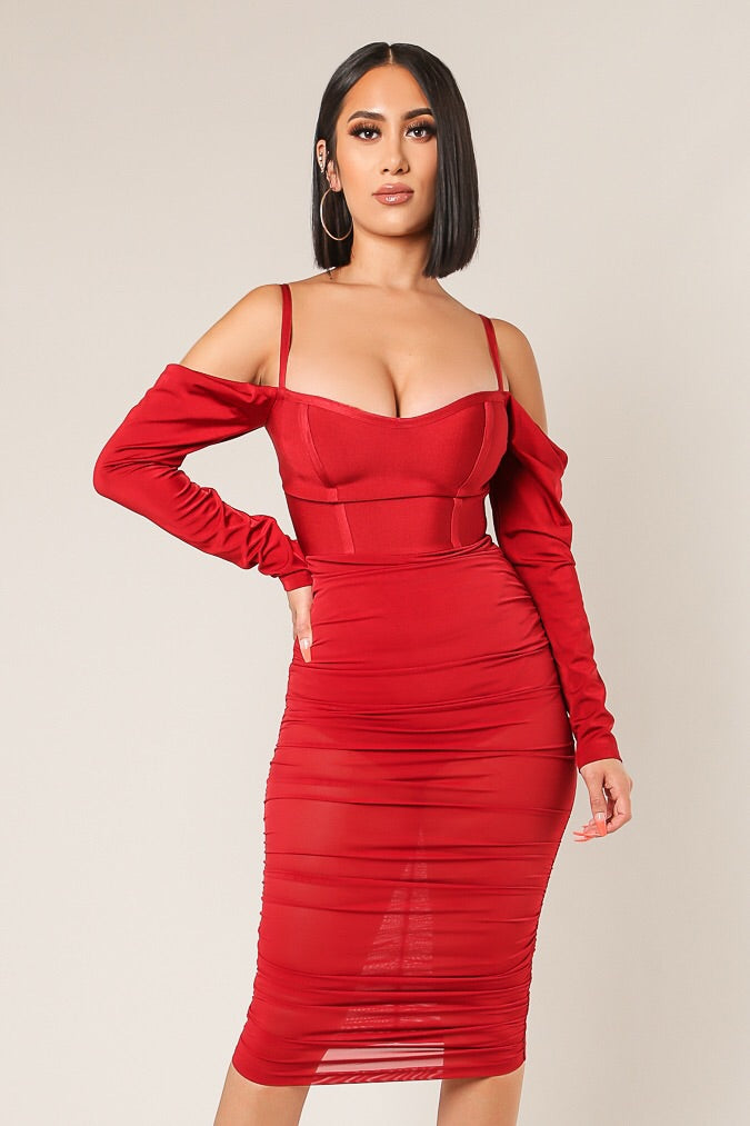 Siren Sheer Ruched Dress