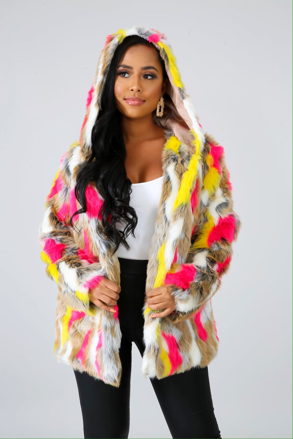 Starbursts Fur Jacket