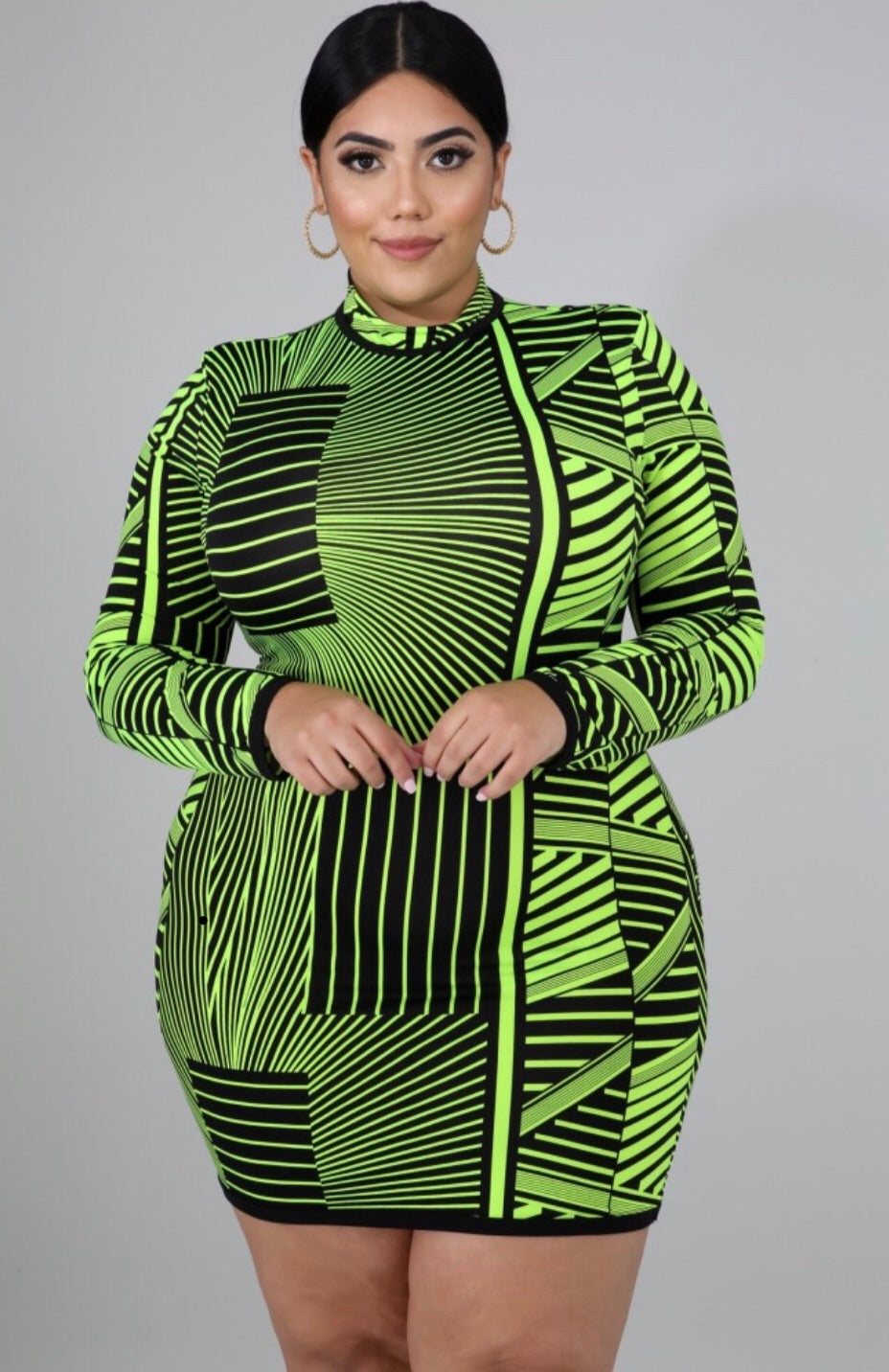 Poison Ivy Curvy Neon Bodycon Mini Dress