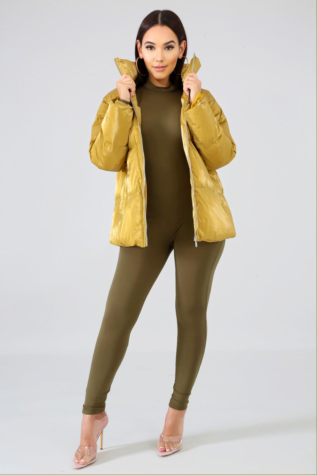 Fly Girl Yellow Bomber Jacket