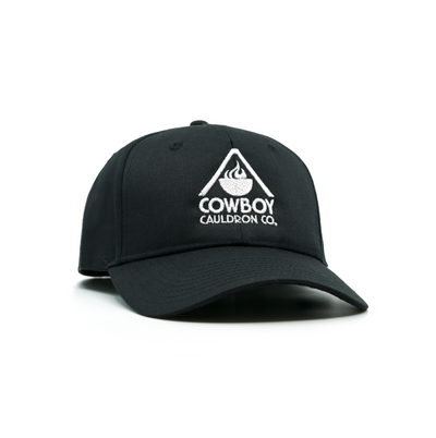 LOGO BASEBALL CAP - BLACK with WHITE LOGO