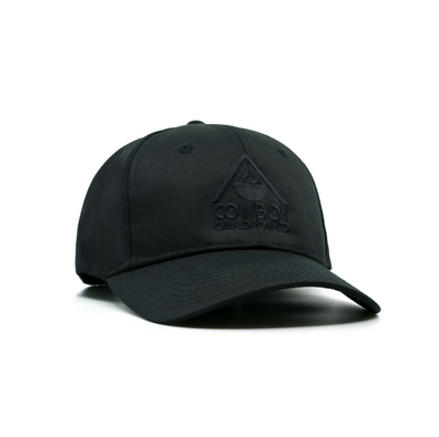 LOGO BASEBALL CAP - BLACK with BLACK LOGO