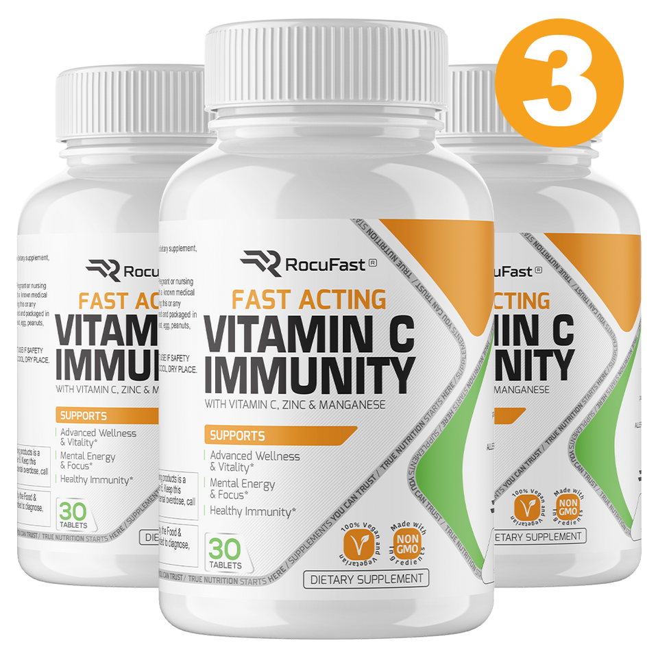 3 MONTH SUPPLY: Rocufast Vitamin C Immunity (3 Bottles)
