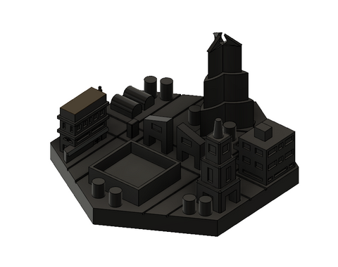 3D Printed City Tile for Terraforming Mars Board Game (set of 4)