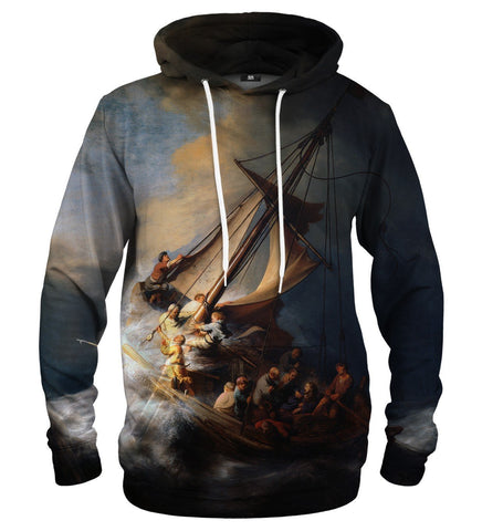 Christ In The Storm On The Lake Of Galilee Hoodie