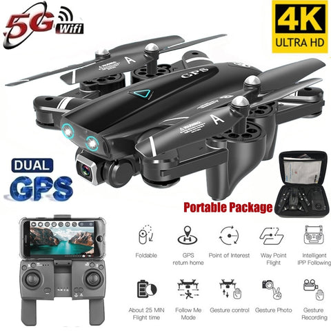 S167 GPS Drone With Camera 5G  RC Quadcopter Drone 4K WIFI FPV  Foldable