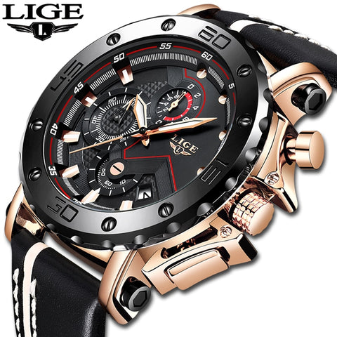 LIGE Men's Watch Model 9899 (Water Resistant)