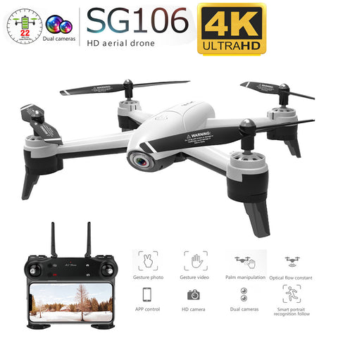SG106 WiFi FPV RC Drone 4K Camera Optical Flow 1080P HD Dual Camer