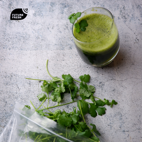 Summer Detox Juice with Future Fresh Coriander Wansoy and Spearmint
