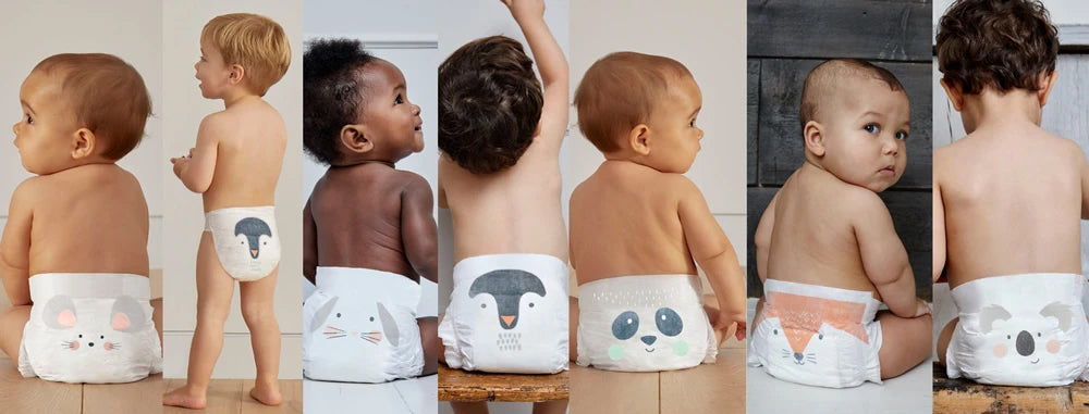 Our new adorable animal diaper designs