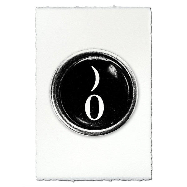 "Typewriter Key ""Zero"""