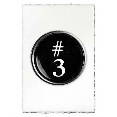 "Typewriter Key ""3"""
