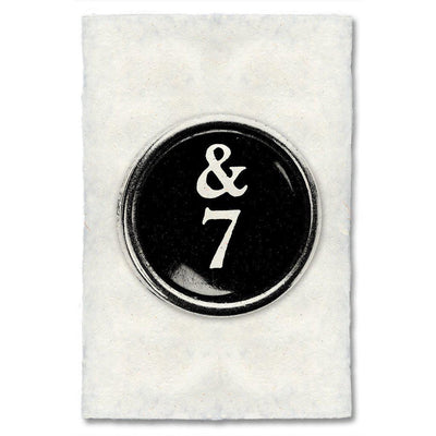 "Typewriter Key ""7"""