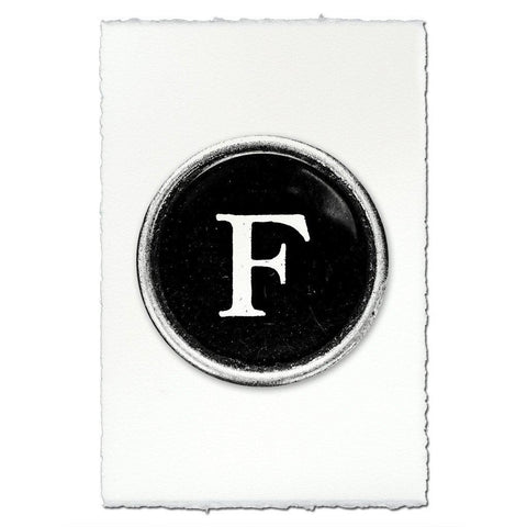 "Typewriter Key ""F"""