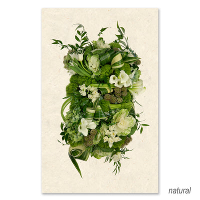 Green and White Collective Floral grand format