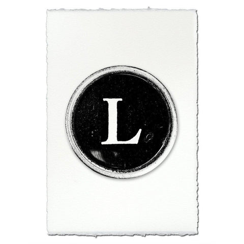 "Typewriter Key ""L"""