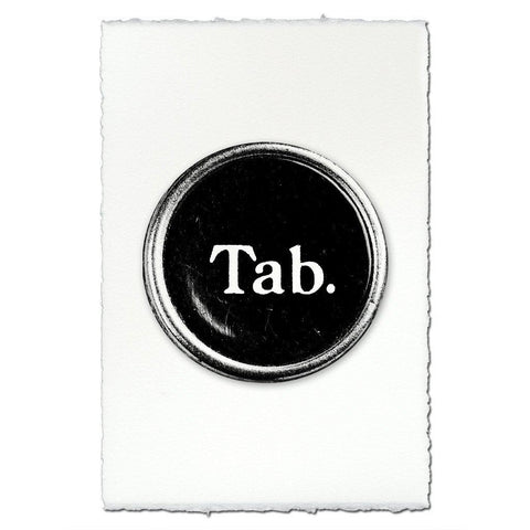 "Typewriter key ""Tab"""