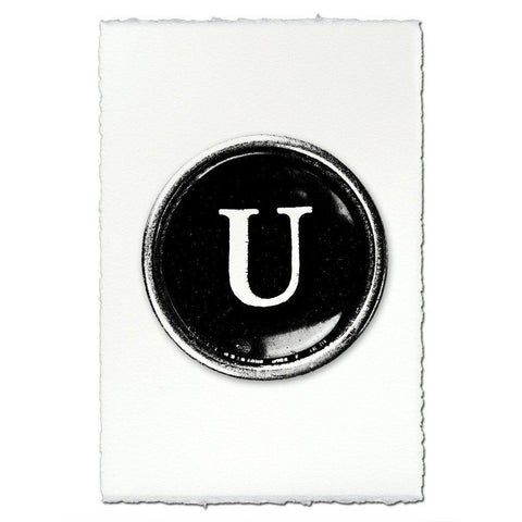 "Typewriter Key ""U"""