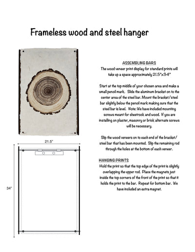 Frameless wood and steel hangers