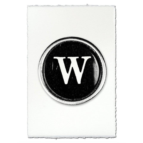 "Typewriter Key ""W"""