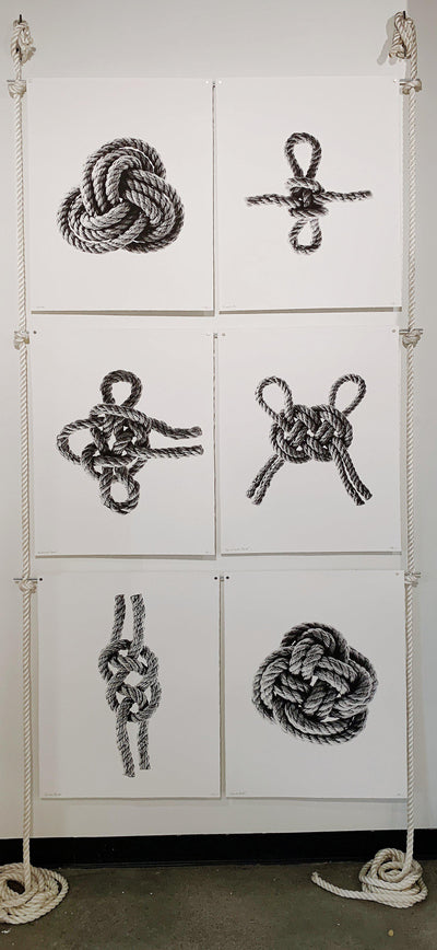6 print rope and steel display