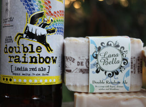 double rainbow india red ale soap
