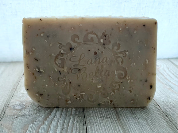 Oatmeal Mint cold process soap
