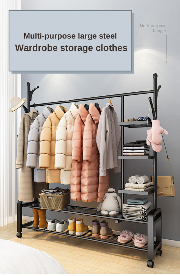 Multi-Purpose Stainless Steel Wardrobe Storage Clothes
