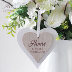 Home is Where the Heart Is Shabby Chic Hanging Heart
