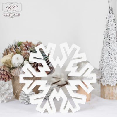 Wooden Christmas Standing Snowflakes