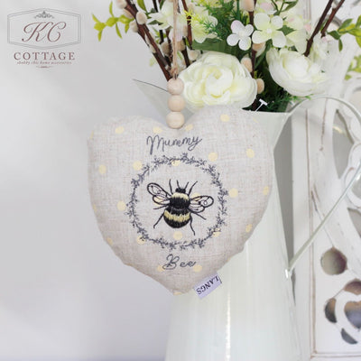 Hanging Fabric Mum Bee Heart