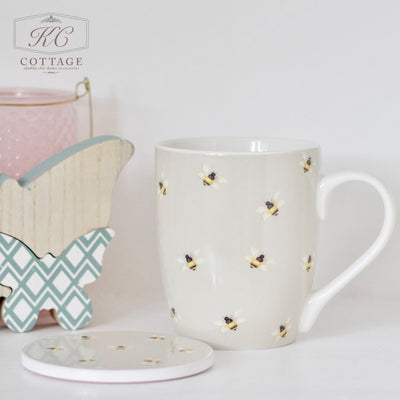 Mum You Are The Bees Knees Mug & Coaster Set
