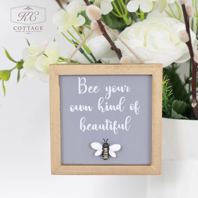 Luxe Hanging Bee Plaque