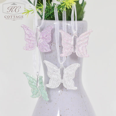 Glass Hanging Butterfly Set
