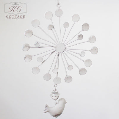 Rustic Metal Hanging Flower