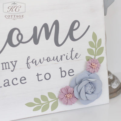 Floral Home Wall Plaque
