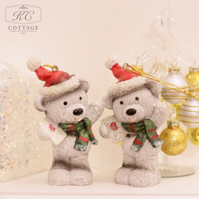 Hanging Festive Bear Christmas Tree Decoration