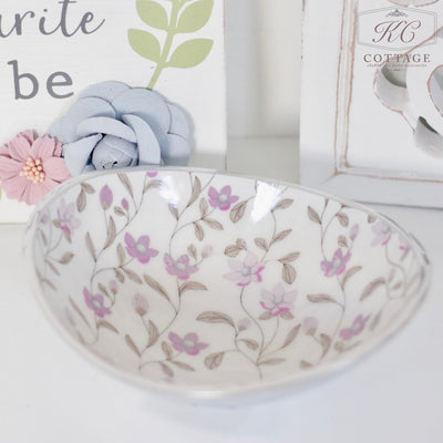 Purple Meadow Oval Bowl