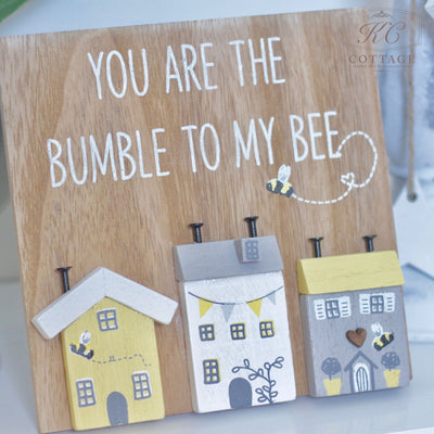Bumble Bee Village Standing Plaque
