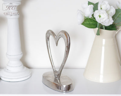 Silver Heart on Stand