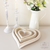 Wooden Shabby Chic Heart Tray