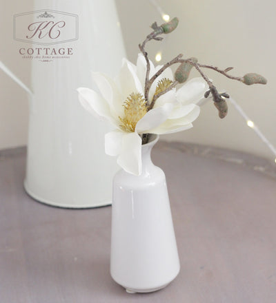 Faux Magnolia In Vase