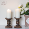 Dark Brown Round Candle Holder